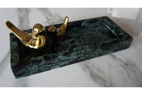 Rectangular Marble Tray Green