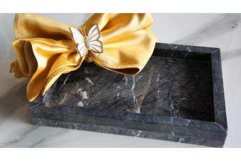 Rectangular Marble Tray GC Small