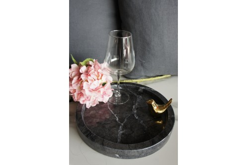 Round Marble Tray GC Large
