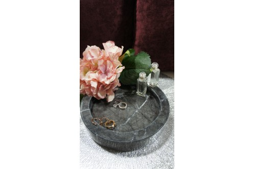 Round Marble Tray GC Small